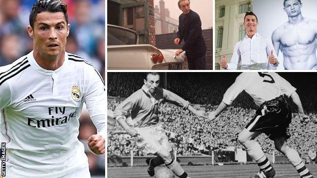 Cristiano Ronaldo and Stanley Matthews