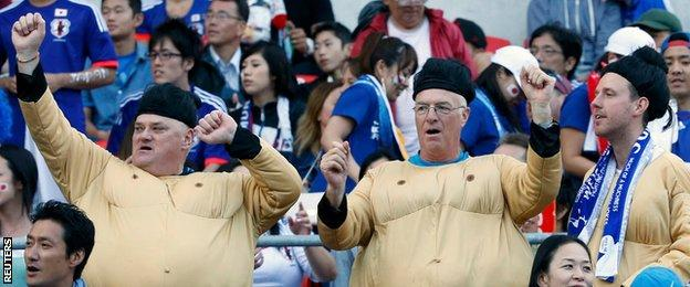 Japan fans at the Asian Cup