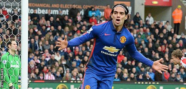 Falcao's last goal came in the 1-1 draw at Stoke City on 1 January
