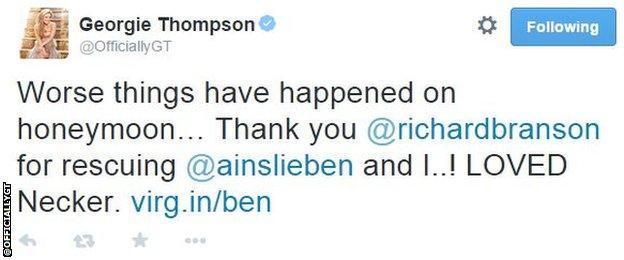 Georgie Thompson tweet