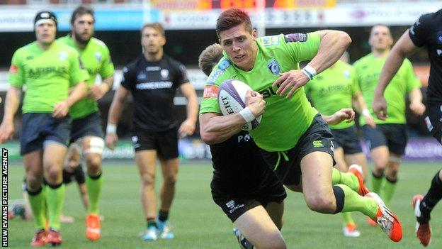 Richard Smith has scored three tries in 10 games for Cardiff Blues this season