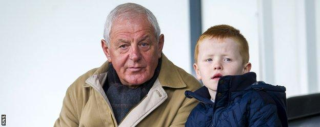 Walter Smith watches Rangers in November