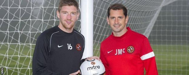Mark Wilson and Dundee United manager Jackie McNamara