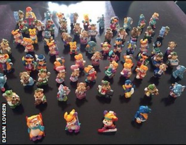 Dejan Lovren's Kinder Egg toys