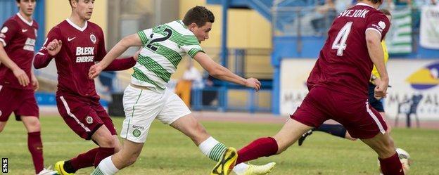 Joe Thomson scores for Celtic
