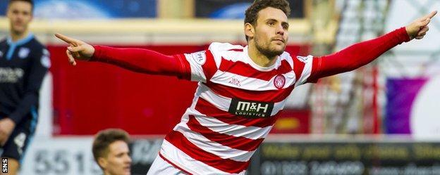 Hamilton Academical striker Tony Andreu