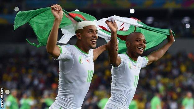 Sofiane Feghouli (left) and Yacine Brahimi