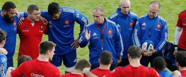 Philippe Saint-Andre addresses his players