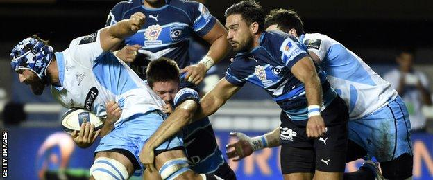 Glasgow were 15-13 winners at Montpellier in October