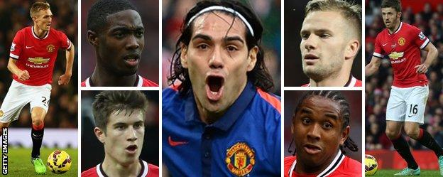 The seven Manchester United players who are out of contract in the summer of 2015