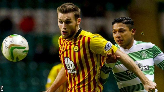 Partick Thistle right-back Stephen O'Donnell in action against Celtic