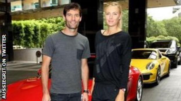 Mark Webber and Maria Sharapova
