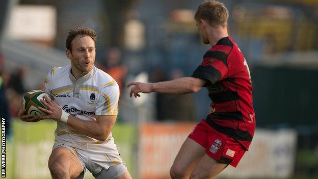 Worcester full-back Chris Pennell returned for the Warriors in the 31-12 B & I Cup win over Moseley in December