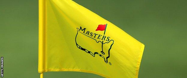 A pin flag is seen during a practice round prior to the start of the 2013 Masters Tournament at Augusta National Golf Club on April 8, 2013 in Augusta, Georgia