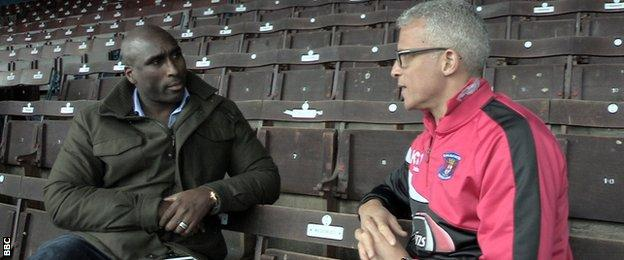 Sol Campbell with Keith Curle