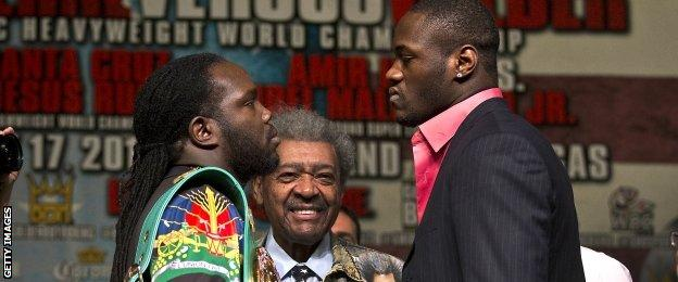 Bermane Stiverne, Don King and Deontay Wilder