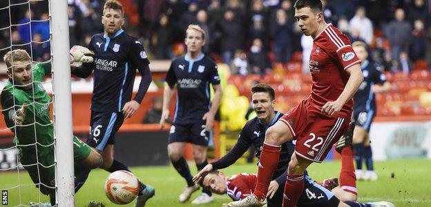 Ryan Jack scores Aberdeen's late equaliser