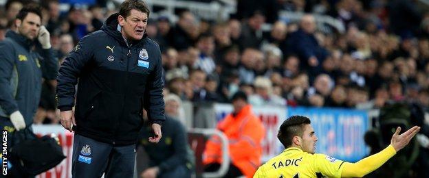 Newcastle caretaker manager John Carver
