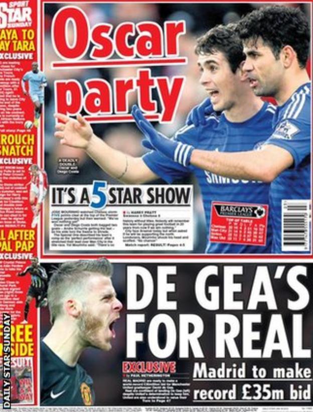 Daily Star Sunday back page