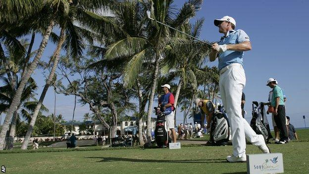 Jimmy Walker in third-round action in Hawaii