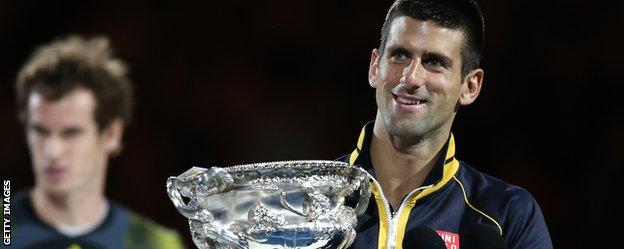 Andy Murray is beaten by Novak Djokovic