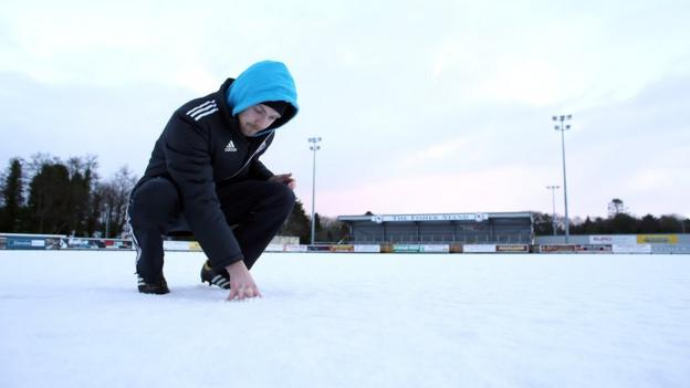 Ballinamallard United's home game against Linfield was one of three Irish Premiership matches to fall victim of the wintry weather