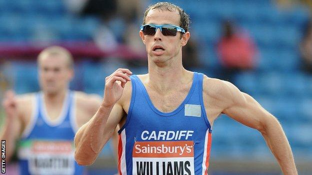 Rhys Williams had been one of Wales' Glasgow 2014 medal hopes in the 400m hurdles