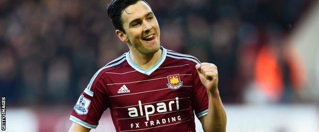 Stewart Downing of West Ham United