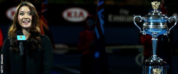 Li Na at the Australian Open 2015