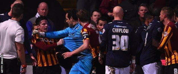 Bradford City and Millwall