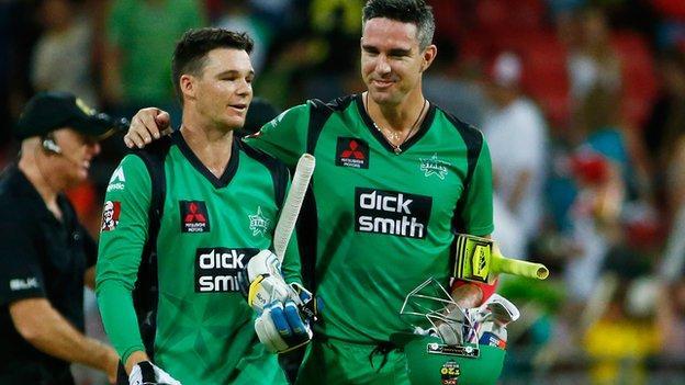 Peter Handscomb and Kevin Pietersen