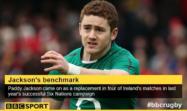 Paddy Jackson of Ireland and Ulster