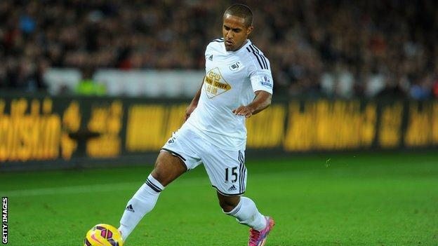 Wayne Routledge in action for Swansea City