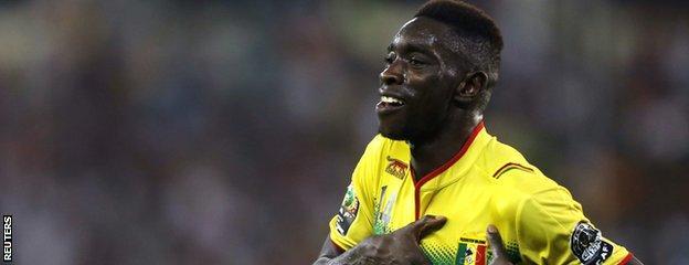 Sambou Yatabare celebrates