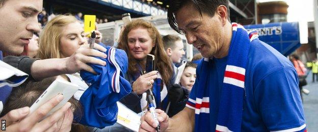 Michael Mols at Ibrox