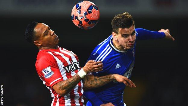 Balint Bajner in action against Southampton's Nathaniel Clyne in the FA Cup