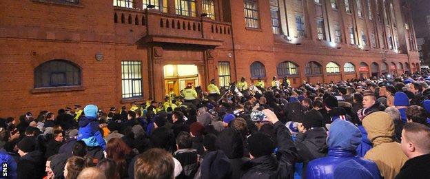 Ibrox protestors
