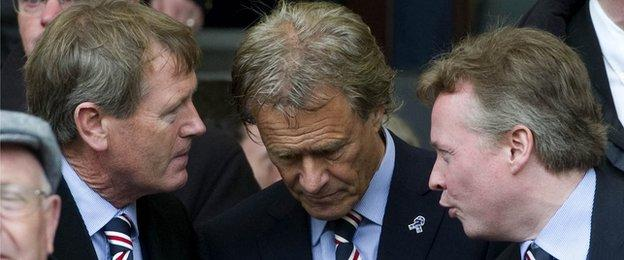 Dave King, Alastair Johnston and Craig Whyte