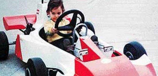 Fernando Alonso as a young boy