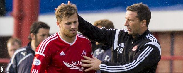 Aberdeen manager Derek McInnes and David Goodwillie
