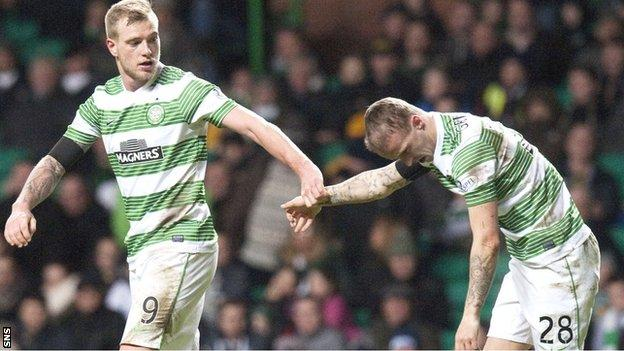 John Guidetti and Leigh Griffiths