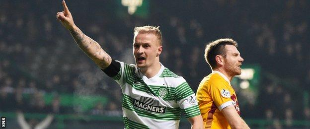 Leigh Griffiths scored his fifth goal of the season against Motherwell