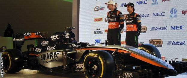 Sergio Perez and Nico Hulkenberg