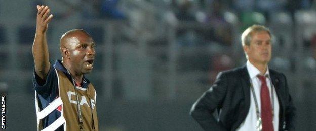 DR Congo coach Florent Ibenge and Cape Verde's Rui Aguas