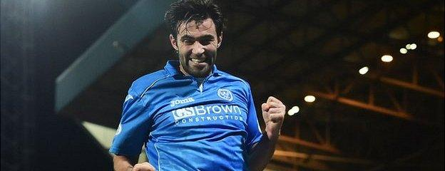 Simon Lappin's first St Johnstone goal put the Perth side in front