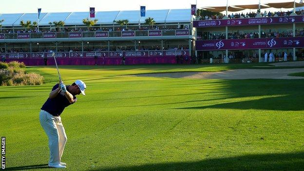 Branden Grace in final-round action at Doha