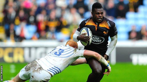 Christian Wade on the attack for Wasps