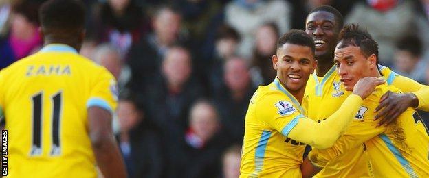 Crystal Palace celebrate against Southampton