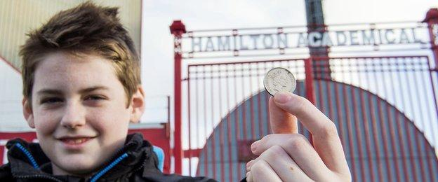 Hamilton Accies charged just 10p to get in for the game, resulting in a crowd of 5,089.