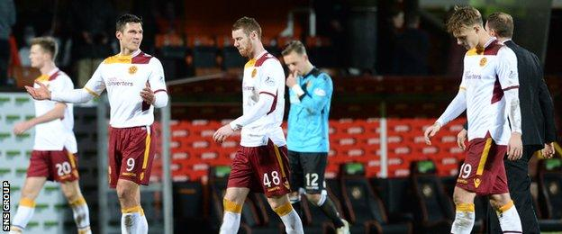 Motherwell slumped to a fifth consecutive defeat